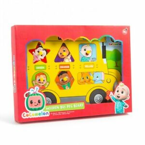 Cocomelon Toy Wooden Bus Peg Board Children's Learning Puzzle Toddler Christmas