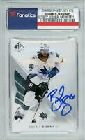 Brent Burns San Jose Sharks Autographed 2017-18 Upper Deck SP Authentic #79 Card