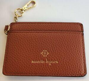 Nanette Lepore  Brown Leather ID Case Holder