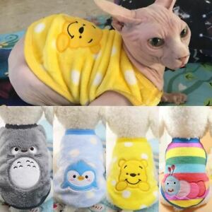 1 Pc Warm Cat Clothes Autumn Winter Pet Clothing For Small Cats Dogs Cartoon Cos