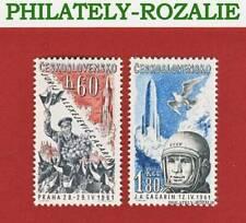 CZECHOSLOVAKIA SET STAMPS MNH ** 1961 Mi 1280/1281 VISIT to PRAGUE Y. GAGARIN