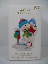 Hallmark 2010 Santa's Wish List Letter 3rd Making Memories Ornament Snowman