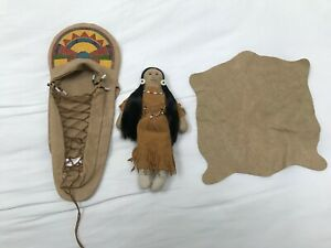 American Girl Doll Kaya's Papoose Doll and Cradleboard