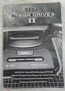 Sega Mega Drive Console II 2 Original Instruction Manual Booklet