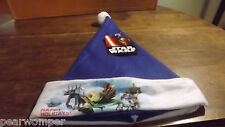 Disney Star Wars Blue Happy Holidays Santa Hat Nwt Free Shipping