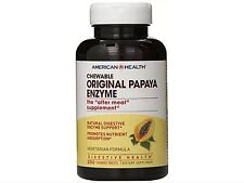 American Health Chewable Multi-Enzymes, Original Papaya, 250 Count Fast Shipping