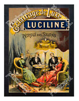 Historic Luciline Oil Lighting 1900s Advertising Postcard