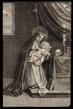 santino incisione 1700 S.ROSA DA LIMA