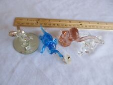 Lot of 5 Glass Elephants