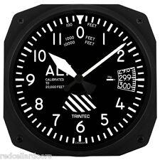 "New Trintec 10"" Classic Altitude Altimeter Aviation Instrument Clock 3060-10"