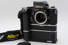 【RARE MINT】 Nikon F2 Photomic AS Black + MD-2 + MB-2 + Grip From Japan #1582