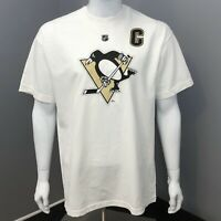 5 Pittsburgh Penguins White Reebok T-Shirts Crosby #87 (5 shirts - GREAT GIFT!)