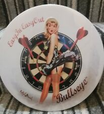 "Darts Bullseye Sexy Lady 12"" Metal Sign *Man Cave/Bar/Restaurant*"