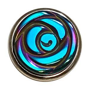 Iridescent Blue Metallic Rose Jewelpop / Kameleon Rings & Jewelry