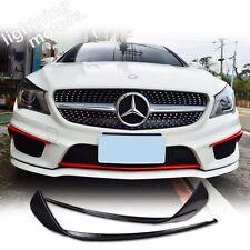 Matte Black For Mercedes BENZ CLA C117 W117 4D Front Bumper Flaps Splitter CLA45