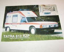 Prospekt / Broschüre PKW Tatra 613 RZP - Schnelle Sanitätshilfe
