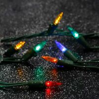 Home Heritage 500 LED 40 yd Indoor Outdoor Christmas Lights, Multicolor (2 Pack)