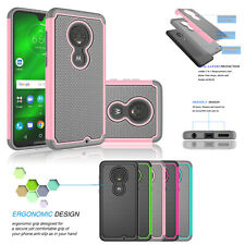 For Motorola Moto G5/G6/G7 Plus Shockproof Hybrid Rubber Impact Hard Case Cover