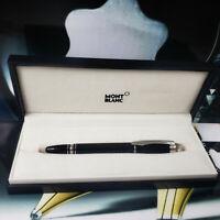 MONTBLANC Starwalker Platinum Black Rollerball Pen ⚡MINT⚡