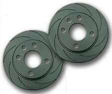 FOR LEXUS IS IS200 GXE10 3/99-> FRONT DRILLED GROOVED BRAKE DISCS BLACK EDITION