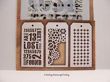 3 Mini Layering Stencils Gears - Plus - Industrial Designs Tim Holtz Set #1