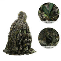 3D Camouflage Suits Ghillie Suit Leaves Poncho Stealth Cloak for Jungle Hunting