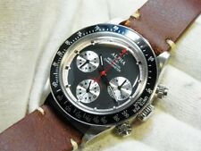 Alpha Paul Newman Panda Matte Black Dial Hand Winding 30-min Chronograph Watch