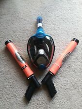 Zpoute Fullface Snorkel Mask with 2 Water Cannons