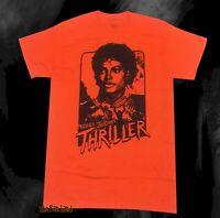 New Michael Jackson Thriller 1982 Video Orange Retro Vintage Mens T-Shirt