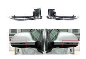 A Pair Rearview Mirror Lights Door Side Marker Lamp For Audi A4 B8 B9 A3 A5