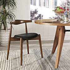 STALWART DINING SIDE CHAIR IN DARK WALNUT BLACK  MCM Style - free shipping usa