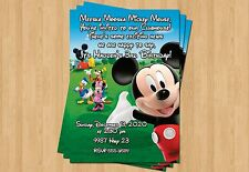 10 - Mickey Minnie Mouse Clubhouse Birthday Invitation 1st 2nd 3rd 4th CUTE