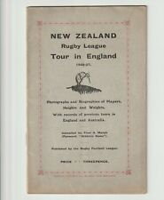 More details for new zealand rugby league tour of england 1926/27 - tour programme superb