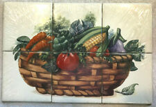 "Kitchen Tile Backsplash Wall Mural Vegetables Basket 6 - 4"" Ceramic BananAppeal"