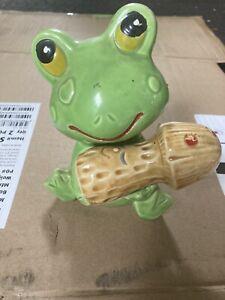 Vintage Frog And Mushroom Salt And Pepper Shaker Set Made In Japan