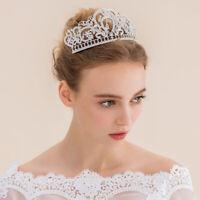 Women Crystal Rhinestone Wedding Tiara Crown Princess Bridal Headband;