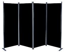 Paravent 4tlg Raumteiler Trennwand  Sichtschutz Schwarz NEU & OVP