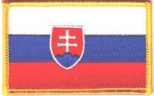 SLOVAKIA FLAG/Iron On Embroidered Applique Patch /Flag of Slovakia