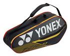 Yonex Team 6 Pack Racquet Bag Black/Yellow Authorized Dealer w/ Warranty