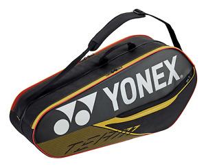 Senston 6X Bolsa de Tenis Bag Badmintontasche Unisex Team Bag Raqueta de B/ádminton Bolsa Sports Racket bag Squash Tasche,Negro//Azul//Rojo