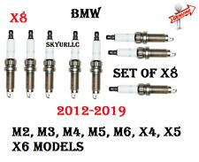 Set Of X8 Spark Plugs For 12-19 BMW M2 M3 M4 M5 M6 X4 X5 X6 GENUINE 12120039634