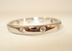 18ct White Gold 0.30pt Diamond Half Eternity Ring with £920.00 Valuation