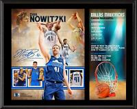 "Dirk Nowitzki Dallas Mavericks 12"" x 15"" Retirement Sublimated Plaque - Fanatics"
