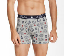 NEW Lucky Brand UNDERWEAR BOXER BRIEFS MENS M Grey Bourbon $21 Retail
