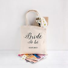 Wedding Favour Tote Bags Printed Gift Present Keepsake Hen Do Party Bag Bride