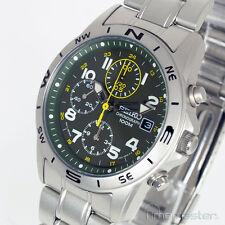 SEIKO mediados tamaño Cronógrafo Militar Verde Oscuro CARA MATT S/Acero SND377P SND377