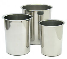 INVINCINOX 3-Set Hi-Quality NON-MAGNETIC Stainless Steel Containers Pots Beakers