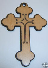 """Laser Cut/Engraved Wooden Cross 4"""" Copts Orthodox Egypt"""