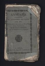 █ Charles CHARTON Annuaire statistique du Département des VOSGES pour 1827 █
