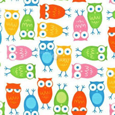 Urban Zoologie White Owls by Anne Kelle for Robert Kaufman, 1/2 yd cotton fabric